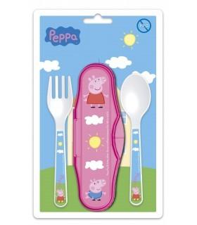 Cubiertos de Viaje Peppa Pig