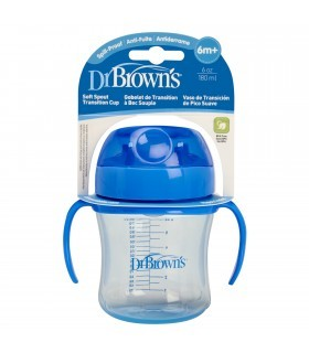 Dr. Browns Vaso Entrenador 6 oz 180 ml Azul