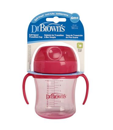 Dr. Browns Vaso Entrenador 6 oz 180 ml Rosa